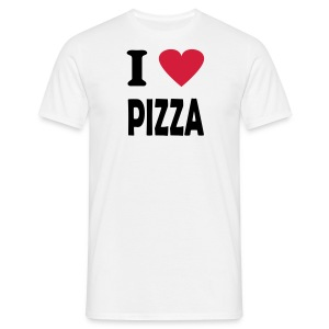 T-skjorte - I love pizza - T-skjorte for menn