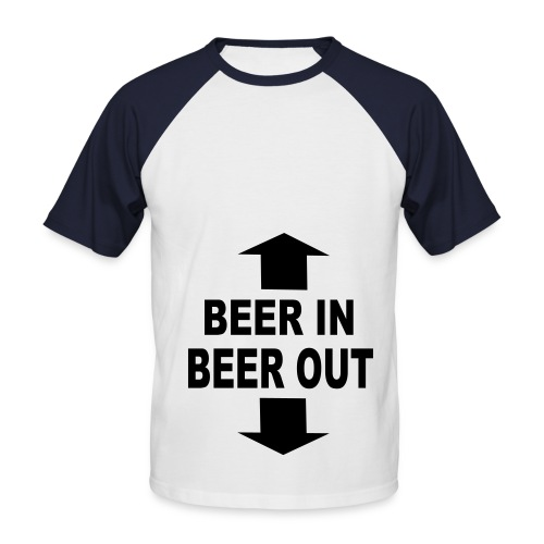BEER IN AND OUT - Männer Baseball-T-Shirt