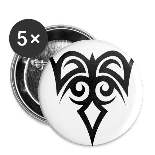 Tribal - Buttons mittel 32 mm (5er Pack)