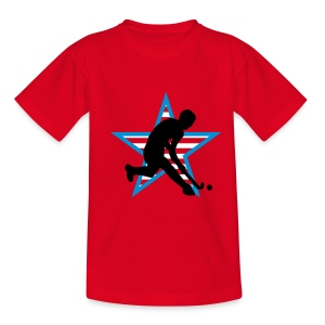 Rot herrenhockey_b_3c_usa Kinder T-Shirts - Teenager T-Shirt