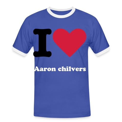 I LOVE AARON CHILVRERS - Men's Ringer Shirt
