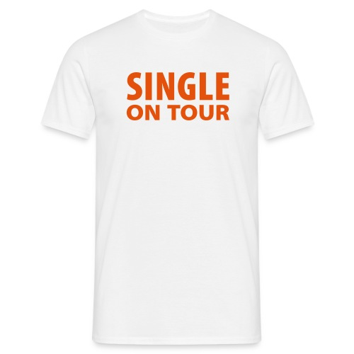 Single on tour - Mannen T-shirt