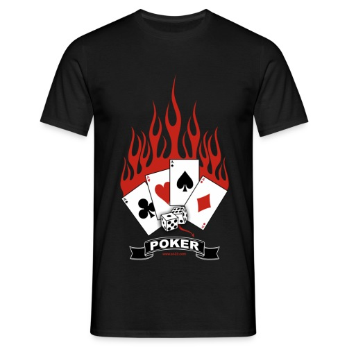 T shirt poker - T-shirt Homme