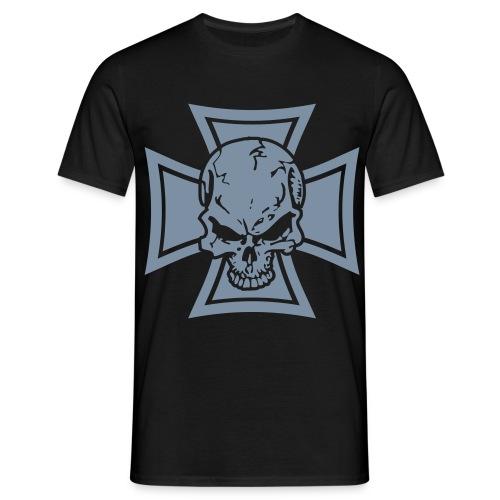 Cross Skull - Männer T-Shirt