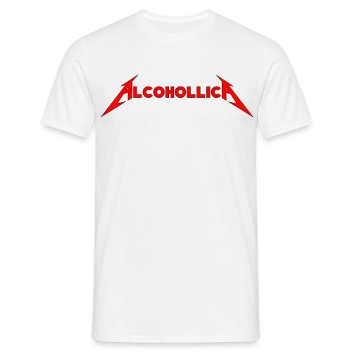 Alcohollica - White T - Men's T-Shirt
