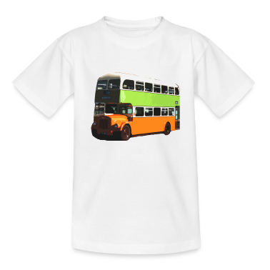 White Glasgow Corporation Bus Kids' Shirts