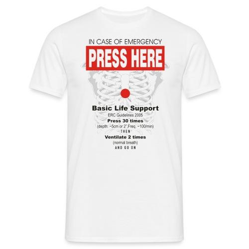 Fun-Shirt Press Here - Männer T-Shirt