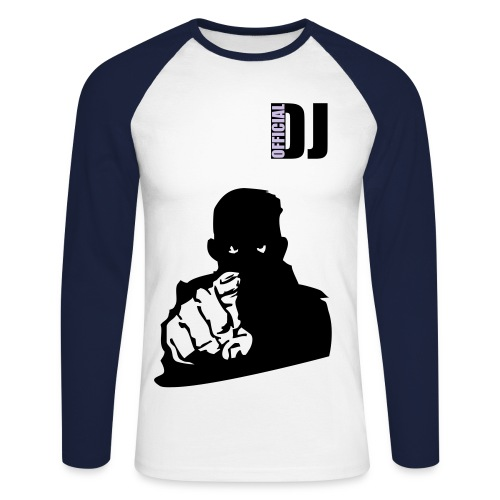 Official DJ - Men's Long Sleeve Baseball T-Shirt