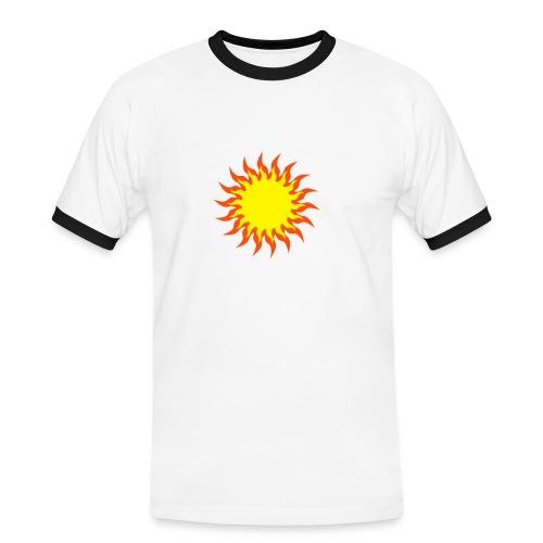 Sonne - Männer Kontrast-T-Shirt