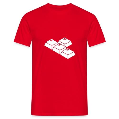 Red WASD Tee - Men's T-Shirt