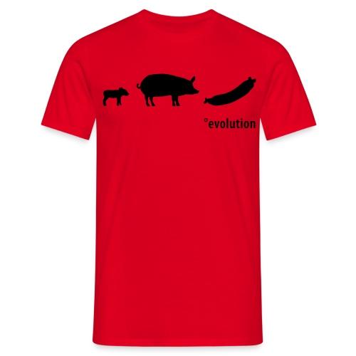 Evolution Wursti - Männer T-Shirt