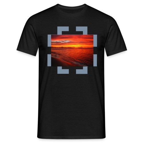 red sunset lafayette beach _ Tahiti t-shirt - T-shirt Homme