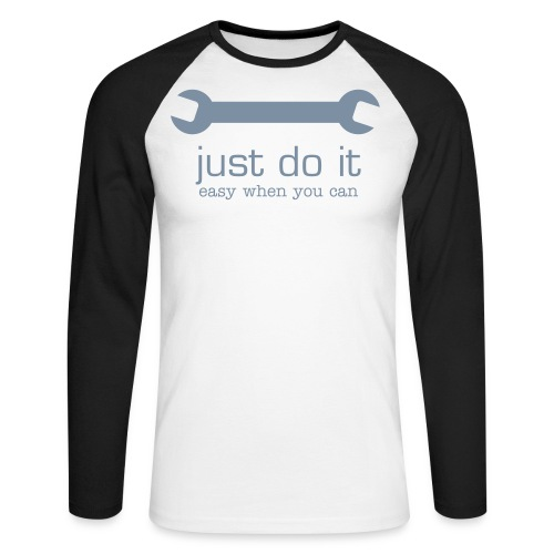 Just Do It - Langermet baseball-skjorte for menn