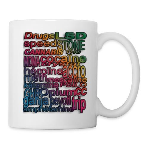 Mug DRUGS blanc & multicolore - Mug blanc