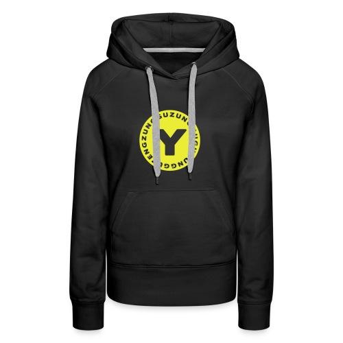 Sweat Capuche Women Yellow - Sweat-shirt à capuche Premium pour femmes
