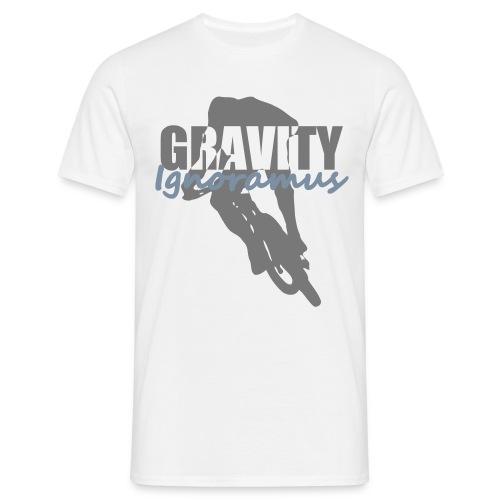 Gravity Ignoramus (Weiß-Grau-Silber matt) - Männer T-Shirt