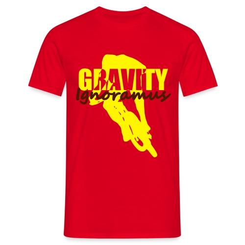 Gravity Ignoramus (Rot-Gelb-Braun) - Männer T-Shirt