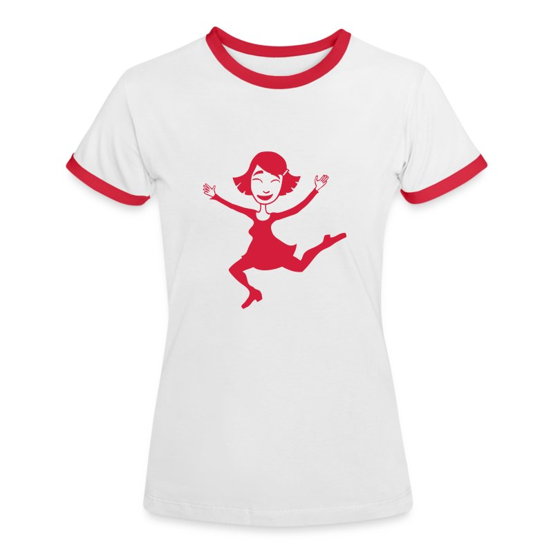 Dora springt - Frauen Kontrast-T-Shirt