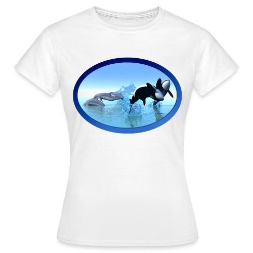 Dolfijnen en Orka's - Women's T-Shirt