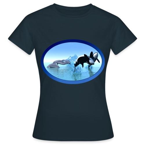 Dolfijnen en Orka's - Vrouwen T-shirt