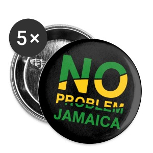 Jamaica-Button No Problem in Landesfarben - Buttons mittel 32 mm