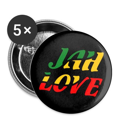Regae-Button in Reggaefarben - Buttons mittel 32 mm