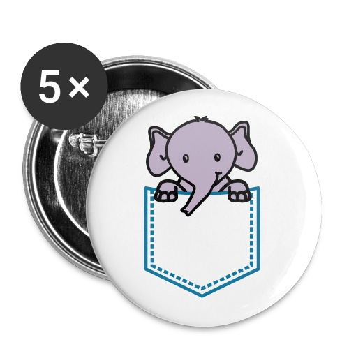 EleWear Tiny Ele Badge - Buttons large 2.2''/56 mm (5-pack)