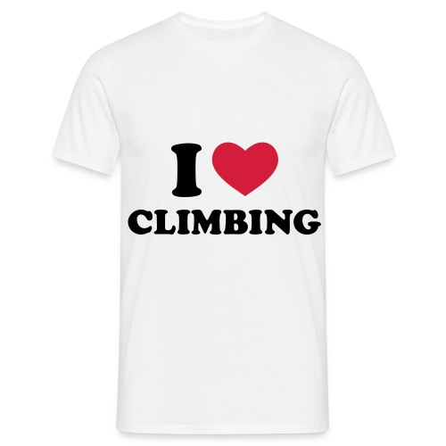 I love climbing classic t-shirt - Men's T-Shirt