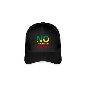 Jamaica-Basecap - No Problem in Reggaefarben - Flexfit Baseballkappe