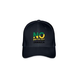 Jamaica-Basecap - No Problem in Landesfarben - Flexfit Baseballkappe