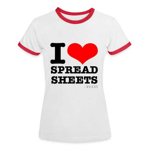 I Love Spreadsheets Womens T-Shirt - Women's Ringer T-Shirt