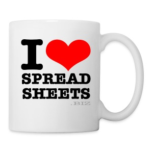 I Love Spreadsheets Mug - Mug