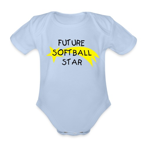 Baby Boy One Piece - Future Softball Star - Organic Short-sleeved Baby Bodysuit