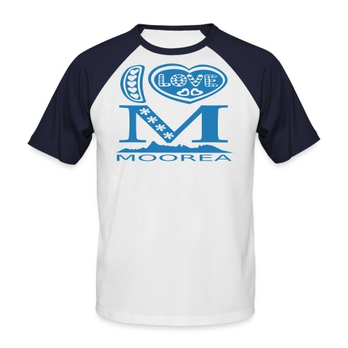 I LOVE moorea T-SHIRT - T-shirt baseball manches courtes Homme