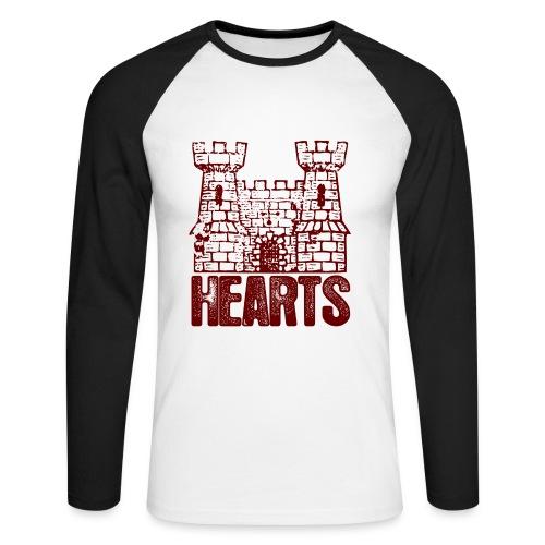 Hearts - Men's Long Sleeve Baseball T-Shirt