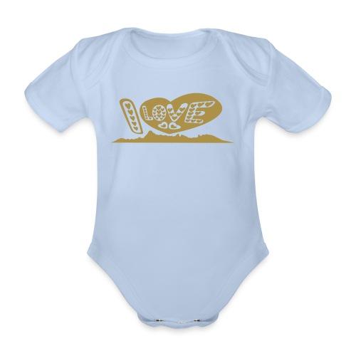 I LOVE Moorea baby body - Body Bébé bio manches courtes
