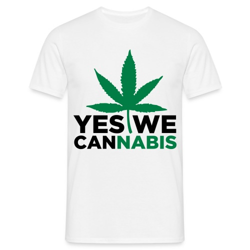 Yes we Cannabis T-Shirt weiß - Männer T-Shirt