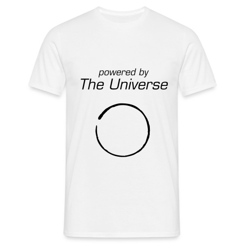 powered by The Universe - Männer T-Shirt