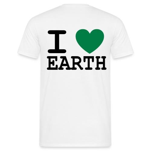 I Heart Earth  - Männer T-Shirt