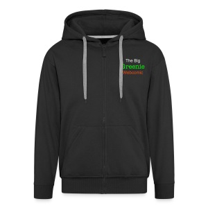 The Big Greenie, Men's Hooded Jacket - Men's Premium Hooded Jacket