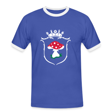 Blue/white Coat of arms Men's T-Shirts