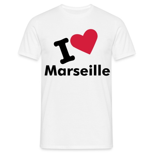Tee-shirt I LOVE MARSEILLE - T-shirt Homme