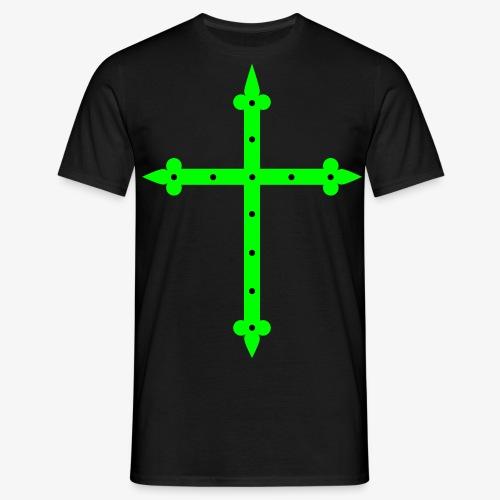 Kreuz neon grün / Cross Männer T-Shirt  - Männer T-Shirt