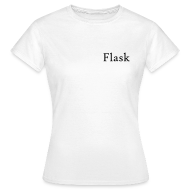 T-Shirts ~ Women's T-Shirt ~ T-Shirt with Logo on Back, White (Female)
