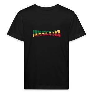 schwarzes Kinder-T-Jamaica-Ska-Shirt - Kinder Bio-T-Shirt