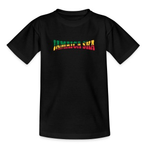 schwarzes Kinder-Jamaica-Ska-Shirt - Teenager T-Shirt