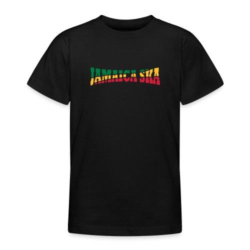 schwarzes Kinder-Jamaica-Ska-Shirt - Teenager T-Shirt