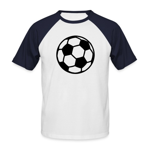 santa soccer - Maglia da baseball a manica corta da uomo