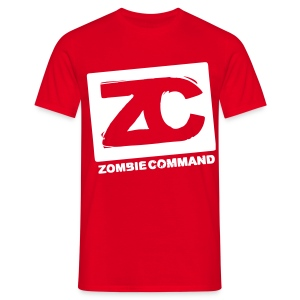 Zombie Command Logo - Men's T-Shirt