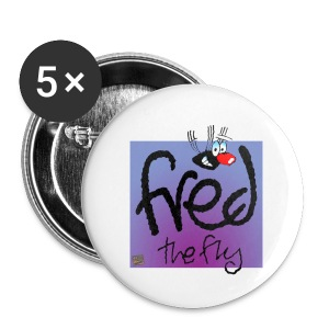 Fred the Fly, Small Badge x 5 - Buttons small 25 mm